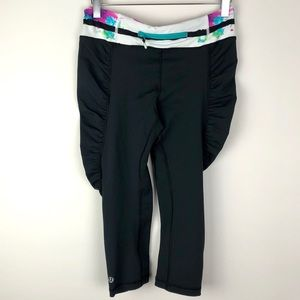 Lululemon Black Ruched Crops